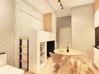 LI A'ALAF ARCHITECT Cocinas de estilo minimalista