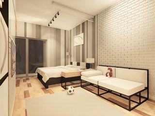 LI A'ALAF ARCHITECT Salones de estilo minimalista