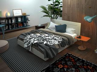 3D Interior Rendering Services Berlin Germany JMSD Consultant - 3D Architectural Visualization Studio BedroomAccessories & decoration Bricks Black