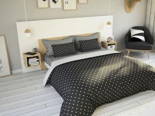 Ambiance Scandinave Kazed ChambreLits & têtes de lit Panneau d'aggloméré Blanc