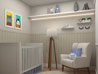 Studio MP Interiores غرف الرضع MDF Beige