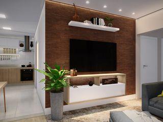 Studio MP Interiores غرفة المعيشة خشب Wood effect