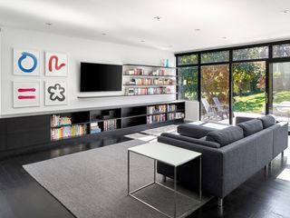 KUBE architecture 现代客厅設計點子、靈感 & 圖片