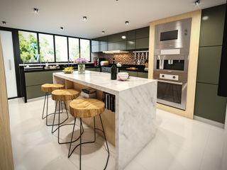 PAR Arquitectos Built-in kitchens Aluminium/Zinc White