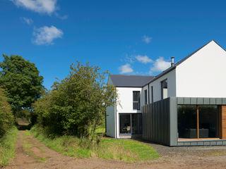 Passive House, Co. Antrim, NI Marshall McCann Architects Rumah pasif Metal White