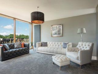 Passive House, Co. Antrim, NI Marshall McCann Architects Ruang Keluarga Modern Grey