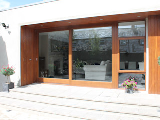 House Extension, Conservation area, Co. Tyrone Marshall McCann Architects Rumah tinggal Kayu Grey