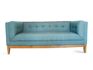 viku 客廳凳子與椅子 木頭 Blue