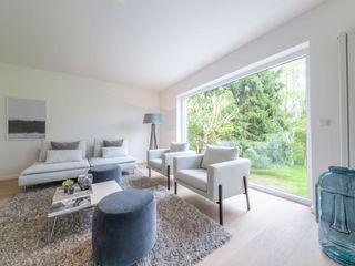 Münchner home staging Agentur GESCHKA Salon minimaliste Gris