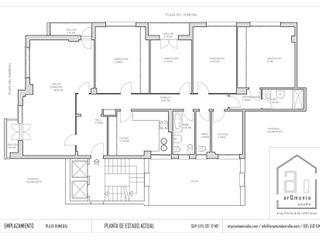 Reforma y decoración estilo minimalista de un piso en Gijón arQmonia estudio, Arquitectos de interior, Asturias
