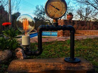Lamparas Vintage Vieja Eddie JardínIluminación Hierro/Acero Negro