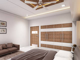 Bed Room 3D Rendering Services San Francisco California JMSD Consultant - 3D Architectural Visualization Studio BedroomAccessories & decoration Wood Wood effect