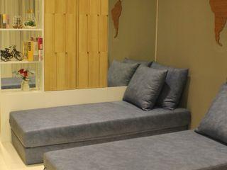 Lexington apartment POWL Studio Ruang Keluarga Modern