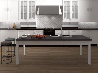 Interceramic MX Rustic style kitchen Ceramic White