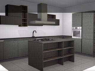 Progettazione foto realistici/render L&M design di Marelli Cinzia Cucina attrezzata Grigio