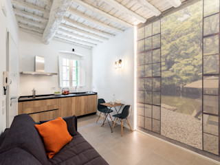 Il Giardino Segreto B+P architetti Soggiorno in stile asiatico