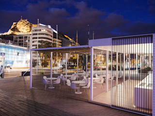 Infografias 3D y Renders 3D Madrid Modern balcony, veranda & terrace