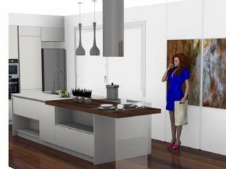 Progettazione foto realistici/render L&M design di Marelli Cinzia Cucina attrezzata MDF Bianco