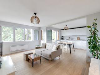 Un 4 pièces de 70 m2 aéré Créateurs d'Interieur Salon scandinave