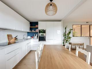 Un 4 pièces de 70 m2 aéré Créateurs d'Interieur Cuisine intégrée