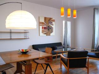 Aménagement complet d'un 3 pièces de 60 m2 Créateurs d'Interieur Salon classique