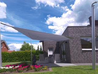 Elektrisch aufrollbares Sonnensegel | Terrasse | rechteckig Pina GmbH - Sonnensegel Design Moderner Garten Grau