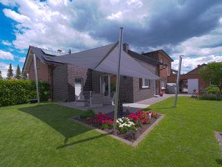 Elektrisch aufrollbares Sonnensegel | Terrasse | rechteckig Pina GmbH - Sonnensegel Design Moderner Garten