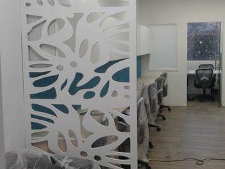 Grey-Woods Office spaces & stores Engineered Wood Beige