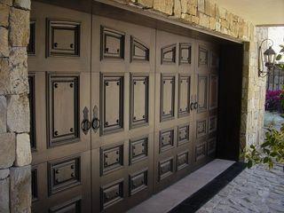 CHD COMPANY Garage Doors Solid Wood Brown