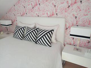 Suite Flamingo - Antes & Depois Espaços Únicos - EU InteriorDecor Quartos tropicais