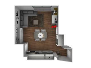 Appartamento a Milano L&M design di Marelli Cinzia Cucina piccola PVC Bianco