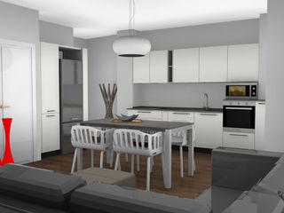 Appartamento a Milano L&M design di Marelli Cinzia Cucina piccola Bianco