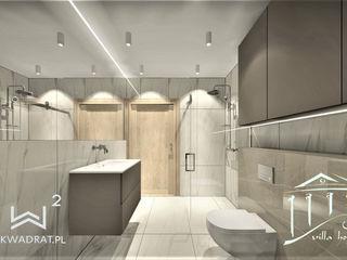 Wkwadrat Architekt Wnętrz Toruń Minimalist bathroom Stone Beige