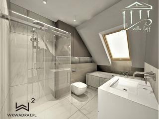 Wkwadrat Architekt Wnętrz Toruń Minimalist bathroom MDF Brown