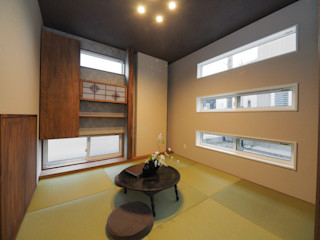 Live Sumai - アズ・コンストラクション - Eclectic style media rooms Green