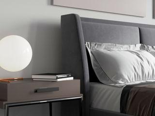 Ale design Grzegorz Grzywacz Small bedroom Grey