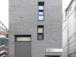 마포구 대흥동 상가주택 홈스타일토토 주택설계전문 디자인그룹 홈스타일토토 다가구 주택 벽돌 그레이