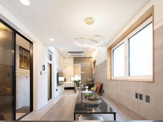 주택설계전문 디자인그룹 홈스타일토토 Modern Living Room Tiles Grey