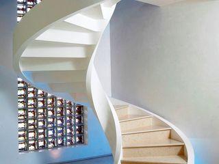 Scale a chiocciola di design Rizzi Scale Ingresso, Corridoio & ScaleScale Cemento Bianco