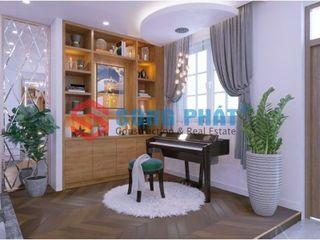 Thiết kế và thi công nội thất nhà phố 2 tầng 5x20m tại Bình Dương Công ty TNHH TK XD Song Phát Living roomStools & chairs