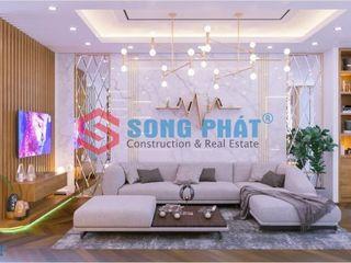 Thiết kế và thi công nội thất nhà phố 2 tầng 5x20m tại Bình Dương Công ty TNHH TK XD Song Phát Dining roomChairs & benches