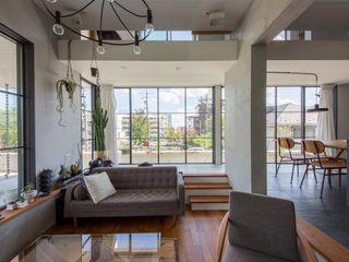 CO2WORKS Modern living room Wood White