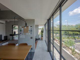 CO2WORKS Modern corridor, hallway & stairs Tiles Grey