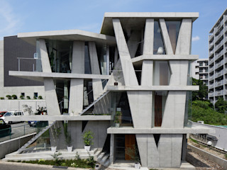 CO2WORKS Modern houses Concrete Grey