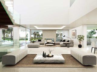 Obra nueva. Arquitectura de autor Otto Medem Arquitecto vanguardista en Madrid Salones de estilo moderno