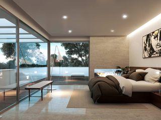 Obra nueva. Arquitectura de autor Otto Medem Arquitecto vanguardista en Madrid Dormitorios de estilo moderno