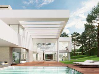 Obra nueva de Arquitectura de autor en Madrid Otto Medem Arquitecto vanguardista en Madrid Piscinas de jardín