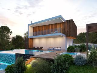 CASA BP1- Moradia em Alcobaça - Projeto de Arquitetura Traçado Regulador. Lda Moradias Madeira Branco