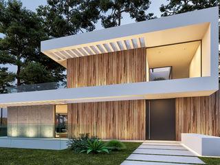 CASA BL1 - Moradia na Herdade da Aroeira - Projeto de Arquitetura Traçado Regulador. Lda Moradias Madeira Branco