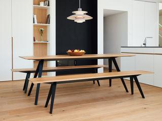 Bank und Tisch klappbar, für innen und außen aus Massivholz und Metall Neuvonfrisch - Möbel und Accessoires EsszimmerStühle und Bänke Holz